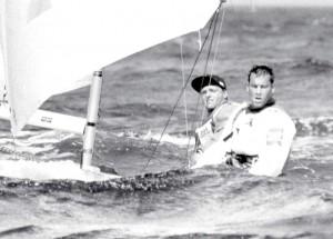 Hansi Vogt. jun. und Jörg Fricke (BYC) segelten 1992 bei Olympia in Barcelona im Starboot für Deutschland auf Rang sechs. F.: Archiv Fricke
